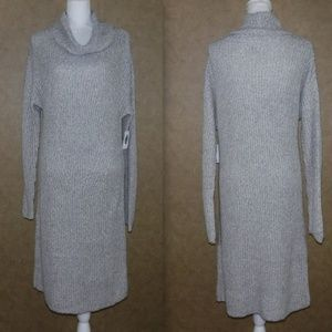 NWT Old Navy Gray Cowl Neck Sweater Dress X Large
